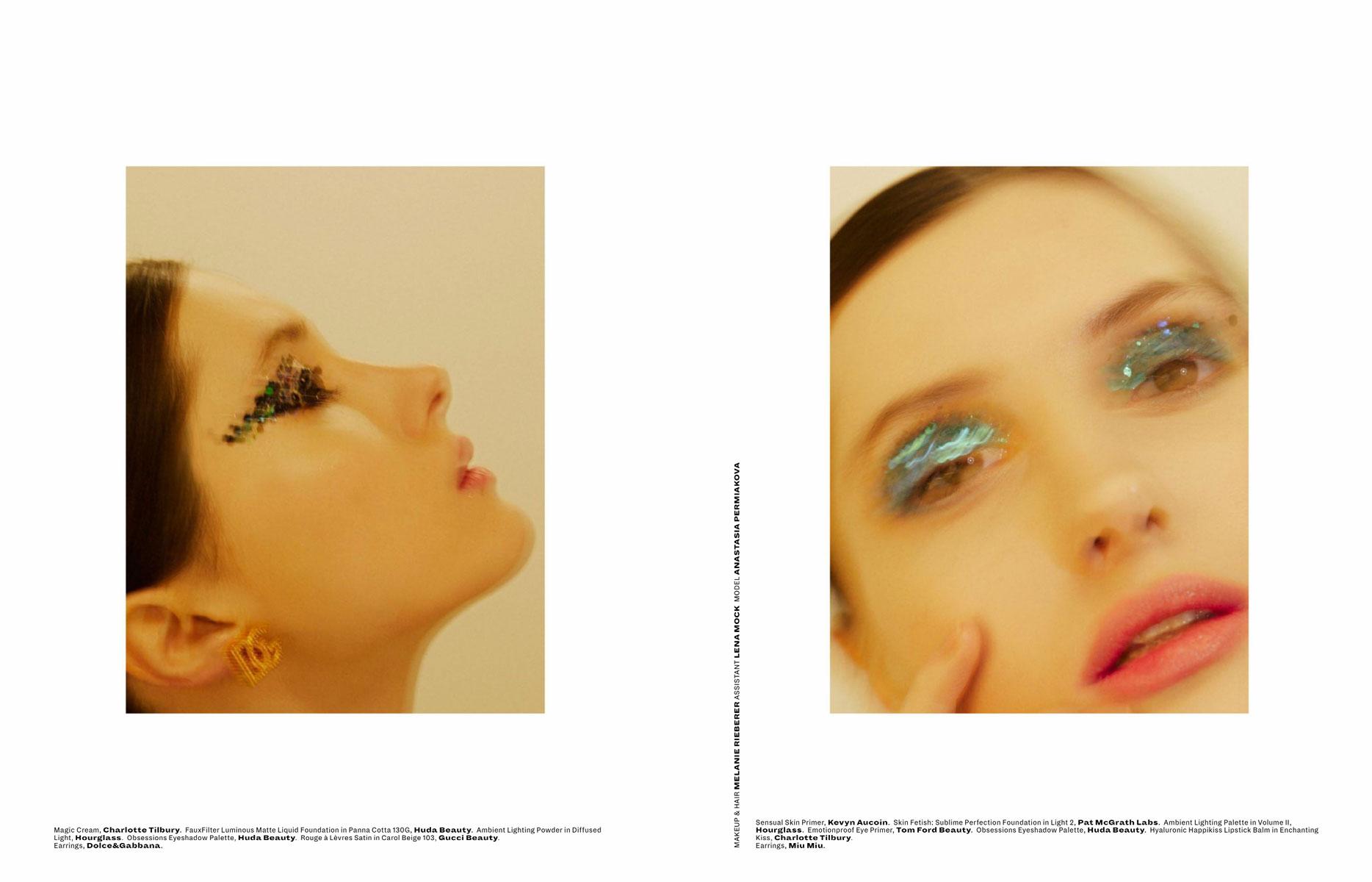 Melanie Rieberer makeup artist hair make-up Editorial L'officiel Malaysia